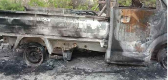 Satu Mobil Pic Up Dikabupaten Halteng Dilalap Sijago Merah